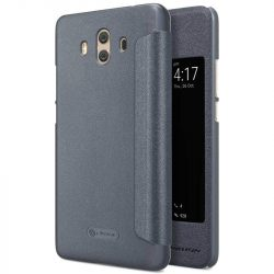 Nillkin Sparkle bőr borítású Flip Book tok telefon tok hátlap Huawei Mate 10 sötétszürke