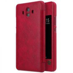 Nillkin Qin eredeti bőr tok telefon tok hátlap Huawei Mate 10 piros