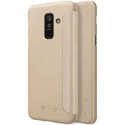 Nillkin Sparkle bőr borítású Flip Book tok telefon tok hátlap Samsung Galaxy A6 Plus 2018 A605 arany