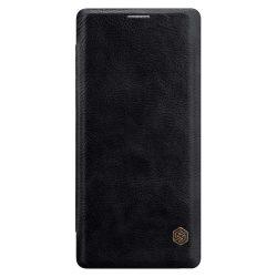 Nillkin Qin eredeti bőr tok telefon tok hátlap Samsung Galaxy Note 9 N960 fekete