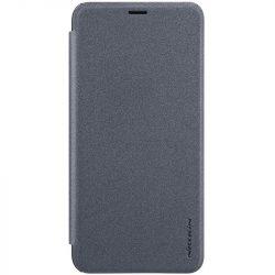 Nillkin Sparkle bőr borítású Flip Book tok telefon tok hátlap Samsung Galaxy J6 Plus 2018 J610 fekete