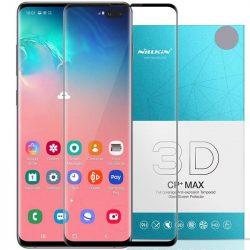 Nillkin 3D CP + MAX Ultra Thin teljes képernyős (full screen) edzett üveg kerettel 0,33 MM 9H Samsung Galaxy S10 Plus G975 fekete kijelzőfólia üvegfólia tempered glass