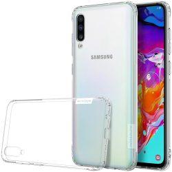 Nillkin Nature TPU tok Gel Ultra Slim Cover Samsung Galaxy A70 átlátszó telefon tok telefontok (hátlap)