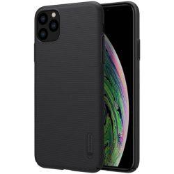 Nillkin Super Frosted Shield tok + kitámasztó iPhone 11 Pro fekete telefontok hátlap tok