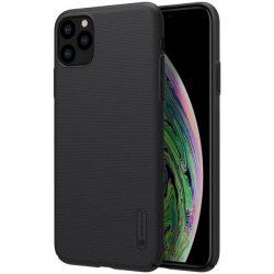 Nillkin Super Frosted Shield tok + kitámasztó iPhone 11 Pro Max fekete telefontok hátlap tok