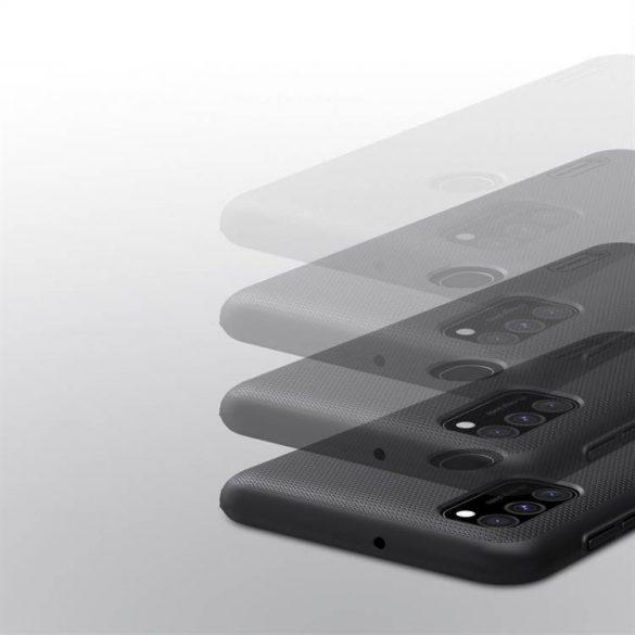 Nillkin Super Frosted Shield tok + kitámasztó Samsung Galaxy M30s fekete telefontok