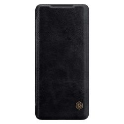 Nillkin Qin eredeti bőr tok Samsung Galaxy S20 Plus fekete