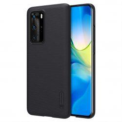 Nillkin Super Frosted Shield tok + kitámasztó Huawei P40 Pro fekete telefontok