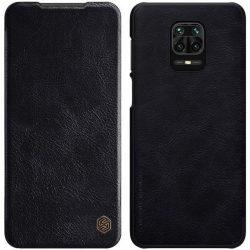 Nillkin Qin eredeti bőr tok Xiaomi redmi Note 9 Pro / redmi Note 9s fekete telefontok