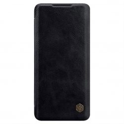 Nillkin Qin eredeti bőr tok Xiaomi Mi Note 10 Lite fekete telefontok