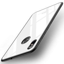 MSVII edzett üveg telefon tok telefontok (hátlap) ütésálló edzett üveg lap Xiaomi Mi 8 SE fehér kijelzőfólia üvegfólia tempered glass