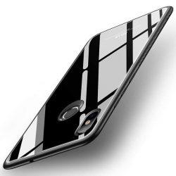 MSVII edzett üveg tok telefon tok hátlap ütésálló edzett üveg lap Xiaomi Mi 8 SE fekete kijelzőfólia üvegfólia tempered glass