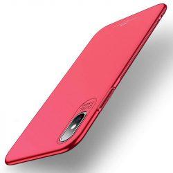 MSVII Egyszerű Ultra-Thin PC Cover tok telefon tok hátlap iPhone XS Max piros