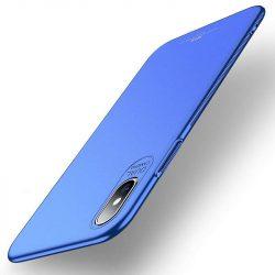 MSVII Egyszerű Ultra-Thin PC Cover tok telefon tok hátlap iPhone XS Max kék