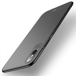 MSVII Egyszerű Ultra-Thin PC Cover tok telefon tok hátlap iPhone XS Max fekete