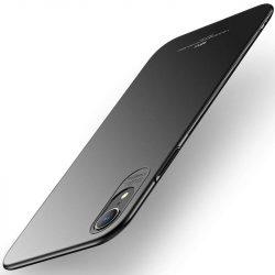 MSVII Egyszerű Ultra-Thin PC Cover tok telefon tok hátlap iPhone XR fekete