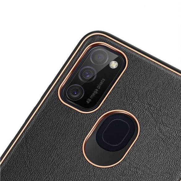 Dux Ducis Yolo elegáns tok puha TPU, műbőr Samsung Galaxy M30s fekete