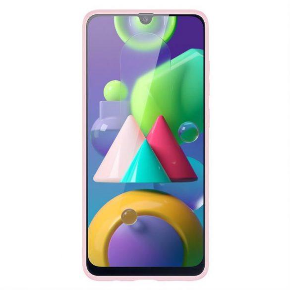 Dux Ducis Yolo elegáns tok puha TPU, műbőr Samsung Galaxy M30s rózsaszín