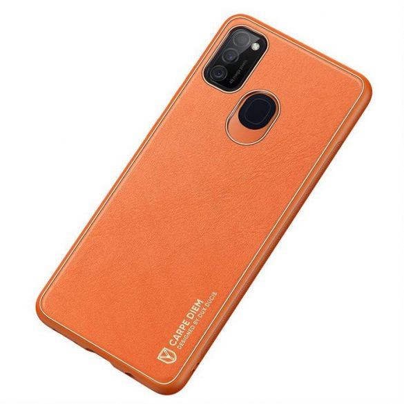 Dux Ducis Yolo elegáns tok puha TPU, műbőr Samsung Galaxy M30s narancs