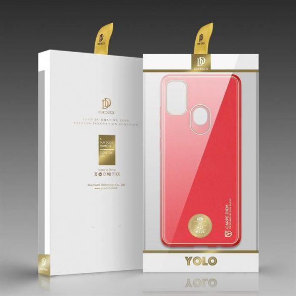 Dux Ducis Yolo elegáns tok puha TPU, műbőr Samsung Galaxy M30s piros