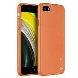 Dux Ducis Yolo elegáns tok puha TPU, műbőr iPhone SE 2020 / iPhone 8 / iPhone 7 narancssárga telefontok