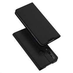 DUX DUCIS Skin Pro Bookcase kihajtható tok típusú tok Huawei Y6p fekete telefontok