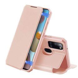 DUX DUCIS Skin X Bookcase kihajtható tok Samsung Galaxy A21S rózsaszín telefontok