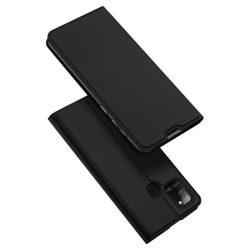 DUX DUCIS Skin Pro Bookcase kihajtható tok típusú tok Samsung Galaxy A21S fekete telefontok