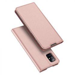 DUX DUCIS Skin Pro Bookcase kihajtható tok típusú tok Samsung Galaxy A51 rózsaszín telefontok