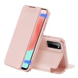 DUX DUCIS Skin X Bookcase kihajtható tok típusú tok Samsung Galaxy A41 rózsaszín telefontok