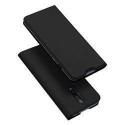 DUX DUCIS Skin Pro Bookcase kihajtható tok típusú tok OnePlus 8 fekete telefontok