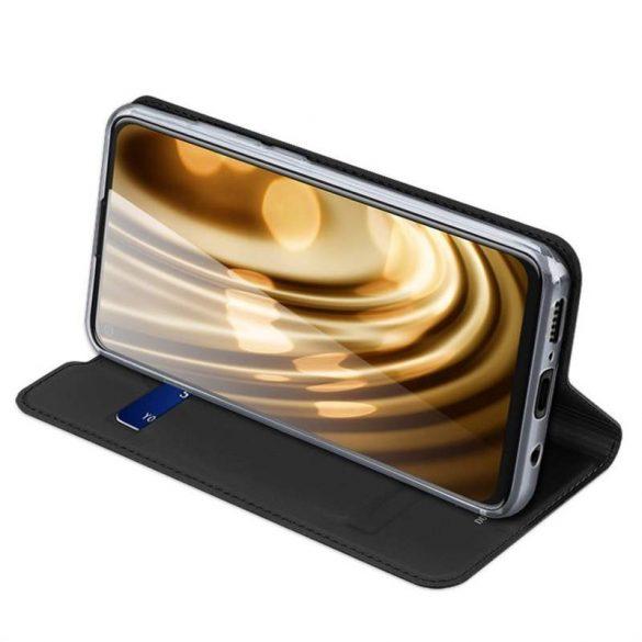 DUX DUCIS Skin Pro Bookcase kihajtható tok típusú tok Motorola Moto G8 Teljesítmény fekete telefontok