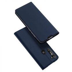DUX DUCIS Skin Pro Bookcase kihajtható tok típusú tok Motorola Moto G8 Teljesítmény kék telefontok