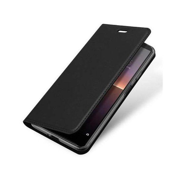 DUX DUCIS Skin Pro Bookcase kihajtható tok típusú tok Sony Xperia 10 II fekete telefontok