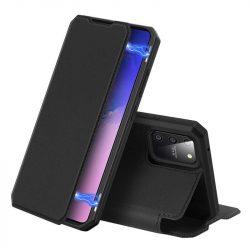 DUX DUCIS Skin X Bookcase kihajtható tok típusú tok Samsung Galaxy S10 Lite fekete telefontok