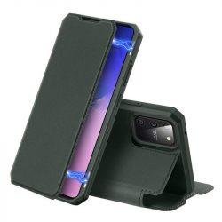 DUX DUCIS Skin X Bookcase kihajtható tok típusú tok Samsung Galaxy S10 Lite zöld telefontok