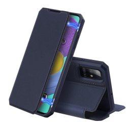 DUX DUCIS Skin X Bookcase típusú tok Samsung Galaxy A51 kék telefontok hátlap tok