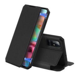 DUX DUCIS Skin X Bookcase típusú tok Samsung Galaxy A71 fekete telefontok hátlap tok