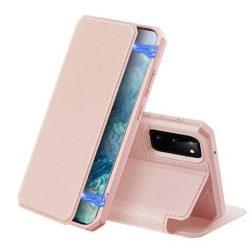 DUX DUCIS Skin X Bookcase kihajtható tok típusú tok Samsung Galaxy S20 rózsaszín telefontok