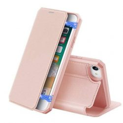 DUX DUCIS Skin X Bookcase kihajtható tok típusú tok iPhone SE 2020 / iPhone 8 / iPhone 7 pink telefontok