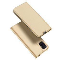 DUX DUCIS Skin Pro Bookcase típusú tok Samsung Galaxy A71 arany telefontok hátlap tok
