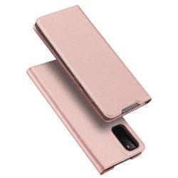 DUX DUCIS Skin Pro flipes típus Samsung Galaxy S20 rózsaszín telefontok