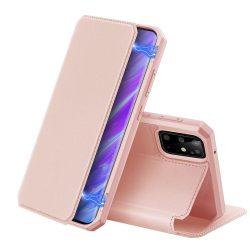 DUX DUCIS Skin X Bookcase típusú tok Samsung Galaxy S20 Plus rózsaszín telefontok hátlap tok
