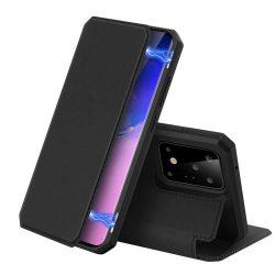 DUX DUCIS Skin X flipes típus Samsung Galaxy S20 Ultra fekete telefontok