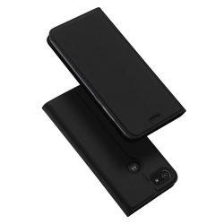 DUX DUCIS Skin Pro Bookcase típusú tok Motorola Moto E6 játék fekete telefontok hátlap tok