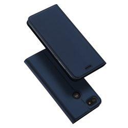 DUX DUCIS Skin Pro Bookcase típusú tok Motorola Moto E6 játék kék telefontok hátlap tok