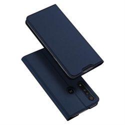 DUX DUCIS Skin Pro Bookcase kihajtható tok Motorola G8 Plus kék telefontok