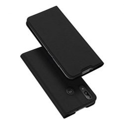 DUX DUCIS Skin Pro Bookcase típusú tok Motorola Moto E6 Plus fekete telefontok hátlap tok