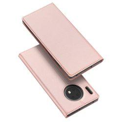 DUX DUCIS Pro Flipes tok Huawei Mate 30 rózsaszín tok telefon tok hátlap