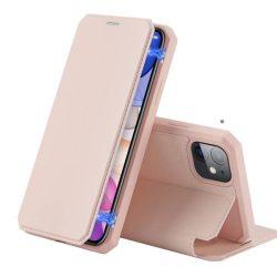 DUX DUCIS Skin X Bookcase típusú tok iPhone 11 rózsaszín telefontok hátlap tok